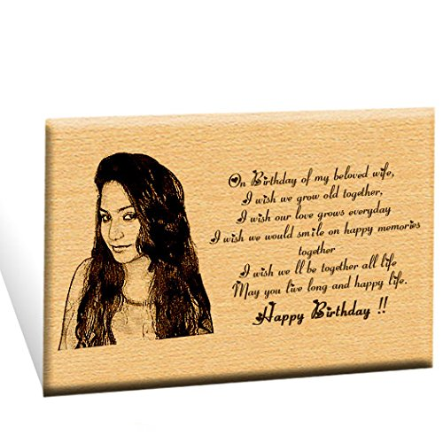 Incredible Gifts India Unique Personalized Engraved Plaque Photo Frame 6 X 8