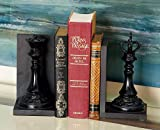 Deco 79 44754 Polystone King and Queen Chess Bookend Pair, 5' x 8'