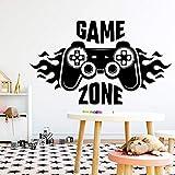 Video Game Zone Gamer Logo PS5 Joystick Controller Fire Gamepad Etiqueta de la pared Calcomanía de vinilo Dormitorio de niño Sala de juegos Sala de juegos Club Studio Decoración para el hogar Mur