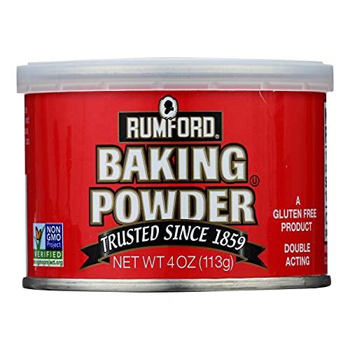 Rumford Aluminum Gluten Free Double Acting Baking Powder, 4 Ounce -- 24 per case.
