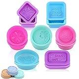 Moldes de silicona para jabón, 21 moldes para hacer jabón, hechos a mano, rectangulares, cuadrados, redondos, ovalados, de silicona