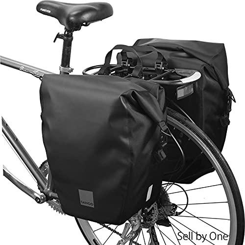 XXT Bolsa de Bicicleta de montaña Bolsa de Rack Montando Asiento Trasero Bolsa Coche multifunción Rack Bolsa Equipo montado (Color : Black)