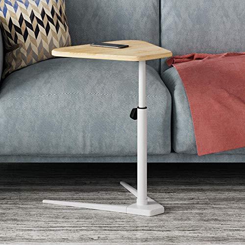 Rahmen aus Kohlenstoffstahl Beistelltisch Sofa mit Rote Flache Dichteplatte,Höhenverstellbar, Abschließbare Rollen, Stehtisch Klappbar für Bed Tilting Overbed Nachttisch Overbed Desk Overbed Table