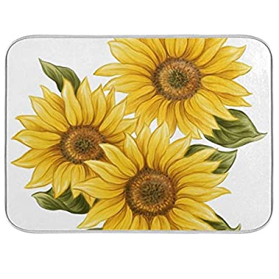 Sunflower Dish Drying Mat for Kitchen Counter 1...