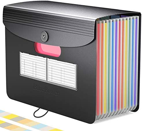 Accordian File Organizer Expanding File Folder Rainbow Portable Desktop A4 Letter Size Filing product image