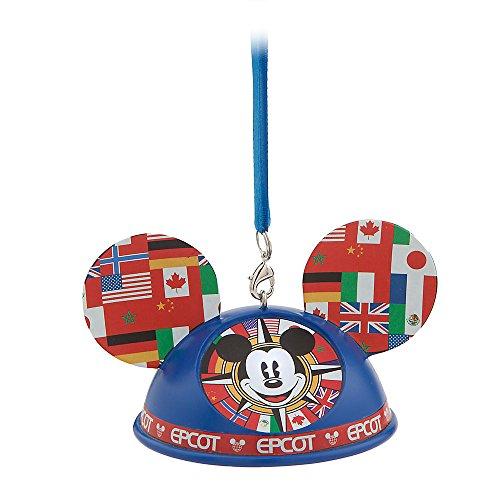 Disney Mickey Mouse Epcot World Showcase Light-Up Ear Hat Ornament - Walt Disney World