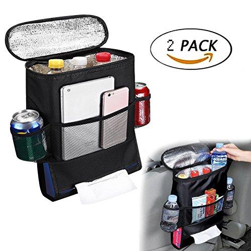 G1-Tech Standard Car Seat Back Organizer,Multi-Pocket Travel Storage Bag(Heat-Preservation)-2Pack