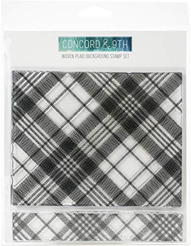 CONCORD & 9TH Clear Stamps 6X6 BKGR, Woven Plaid Background