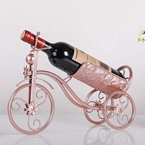 COLiJOL Alenamiento de Vino Tipo de Bicicleta Estante para Vino Hecho a Mano de Metal/Adornos/Decoraciones/Regalo para Cocinas Alenamiento para Sala de Estar (Color: C)