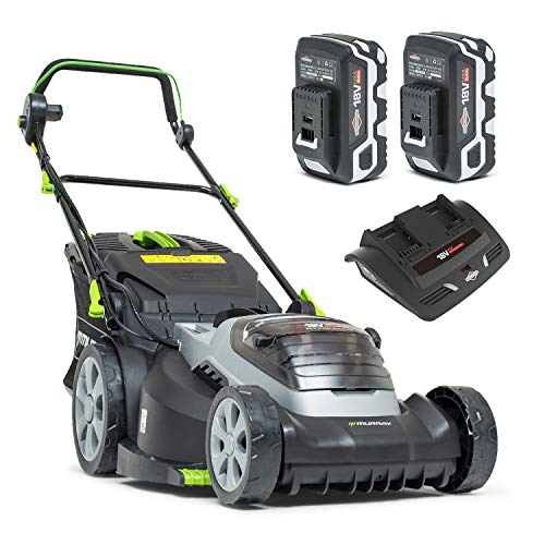 petit Tondeuse à gazon au lithium-ion Murray 2x18V (36V) 44cm Largeur de coupe IQ18WM44 Taxes incluses Batterie 2 x 5 Ah et double chargeur, garantie 5 ans