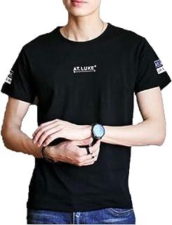 [アミュオン] メンズ Tシャツ 半袖 無地 シンプル 綿