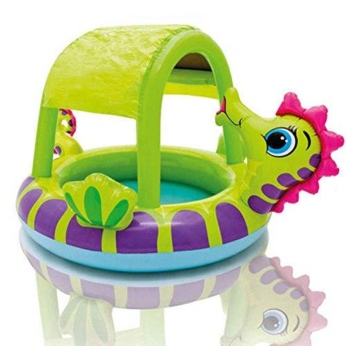 AJH aufblasbarer Pool, Hippocampus-überdachter Baby-Pool Niedlicher aufblasbarer Baby-Baby-Pool Family Super Large Ocean Ball Pool