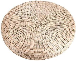 Fdit 40 cm Ronda Puf Tatami Cojín de Suelo Cojines de Paja Meditación Suave Estera de Yoga Uso en el Hogar
