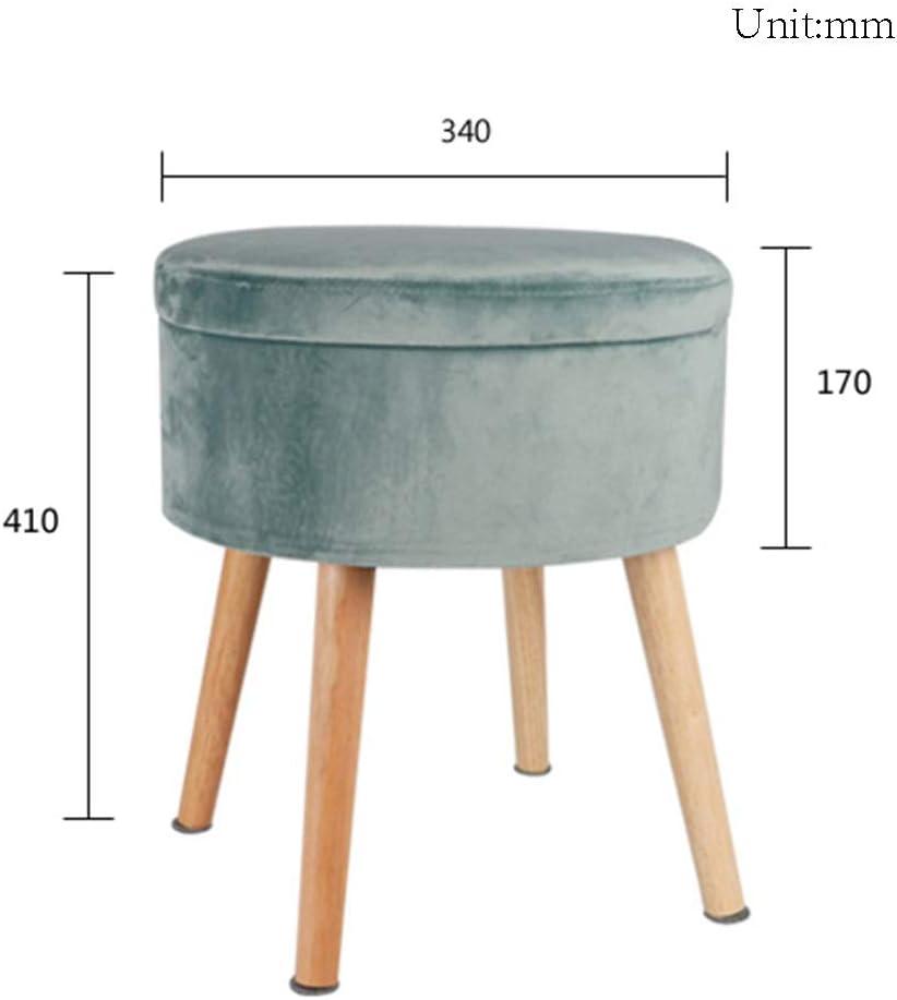 Tabouret de rangement, Tabouret créatif for chambre à coucher Chambre d'enfant Chaise longue ronde Salon Balcon Ottoman (Color : #6) #4