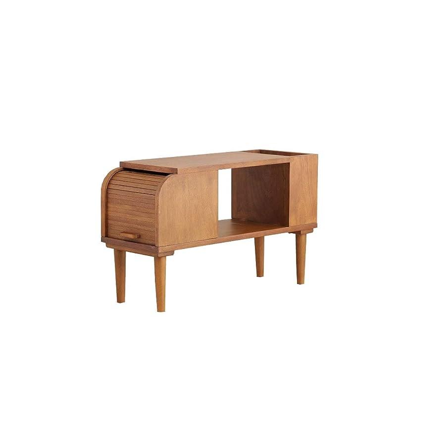 贅沢な刈り取る水陸両用ブラウン/サイドテーブル テーブル ナイトテーブル ソファテーブル ソファーテーブル ベッドサイドテーブル リビング 寝室 北欧 ナチュラル シンプル ブラウン スリム