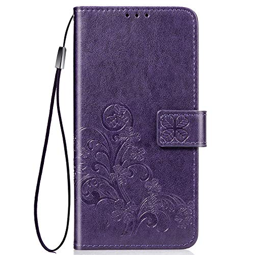 Samsung Galaxy A01 Leather Wallet Case by Halnziye