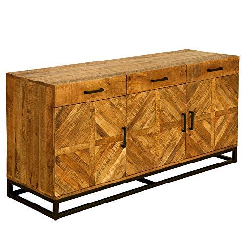 Massives Sideboard Infinity Home 160cm Mangoholz Industrial Design Kommode Massivholz Anrichte