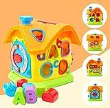 GizmoVine Baby Activity Cube, Formsortierer blockiert Babyspielzeug, Puzzle Development Sorting...
