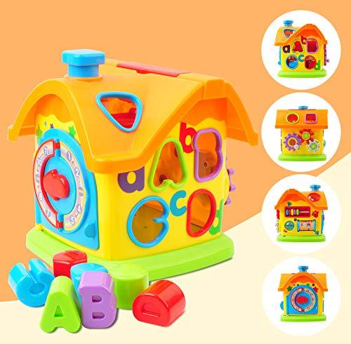 GizmoVine Baby Activity Cube, Formsortierer blockiert Babyspielzeug, Puzzle Development Sorting Cube, Frühpädagogisches Spielzeug für 6 Monate 1,2,3 Jahre alt Kleinkind Kinder Kleinkinder