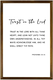 24x18 Proverbs 3:5-6 Poster Trust in the Lord Bible Verse Quote Wall Art