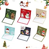 Tarjetas de felicitación navideñas,Tarjetas de Navidad,Tarjetas de regalos,Creativas Christmas Greeting Card,Navidad Felicitación Tarjeta,Tarjetas de Felicitación para Navidad (12PCS)