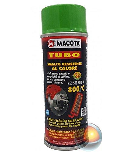 VERNICE SPRAY MACOTA TUBO - RESISTENTE ALLE ALTE TEMPERATURE FINO A 800°C Verde
