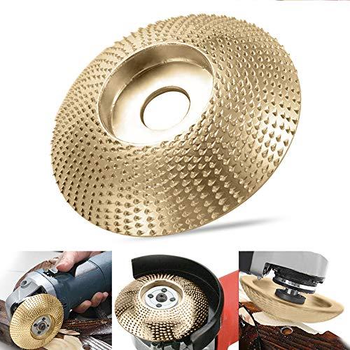 Schleifscheibe Holz,Grinding Wheel,Winkelschleifscheibe,Schleifscheibe Schnitzen,Carving Tools Winkelschleifer,Sanding Wheel,Abrasive Disc (Golden)