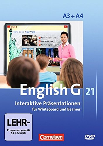 English G 21 - Digital Teaching Aids - Interaktive Präsentationen für Whiteboard und Beamer - Ausgabe A: Band 3/4: 7./8. Schuljahr - DVD-ROM