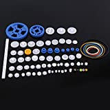 80 tipos Plastic Gears Set Pulley Belt Worm Kits Crown Gear Set Robot Motor Car Toy for DIY Parts