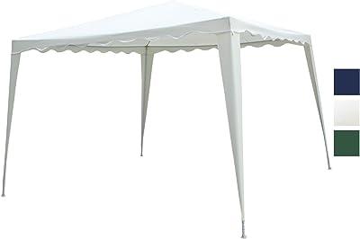 Duhome Elegant LifestyleR Pavillon 3x3 M Partyzelt Weiss Polyester Wasserabweisend Festzelt Gartenzelt Typ GZ