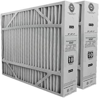 Lennox X0587 MERV 10 Filter - 2 Pack - 20