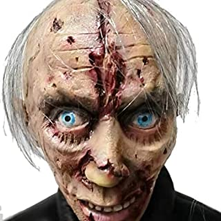 SODIAL Halloween Horror Zombie Masks Party Cosplay Bloody Disgusting Rot Face Masque Masquerade Terror Latex Mask for Adult