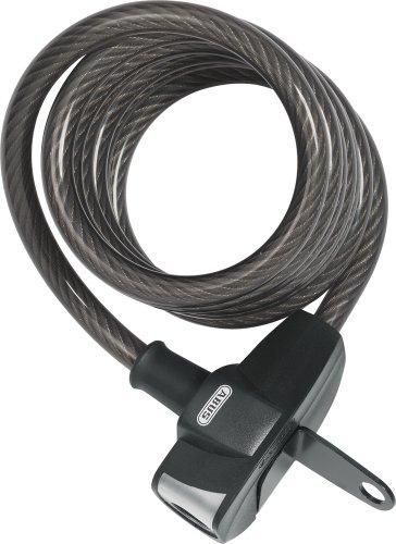 Dyto Fahrrad Zubehör Abus Spiralsloss Booster, Schwarz, 12mm/180cm