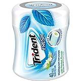Trident Fresh Sugar Free Gum, Peppermint Cool Flavor, 1 Go-Cup (40 Pieces Total)