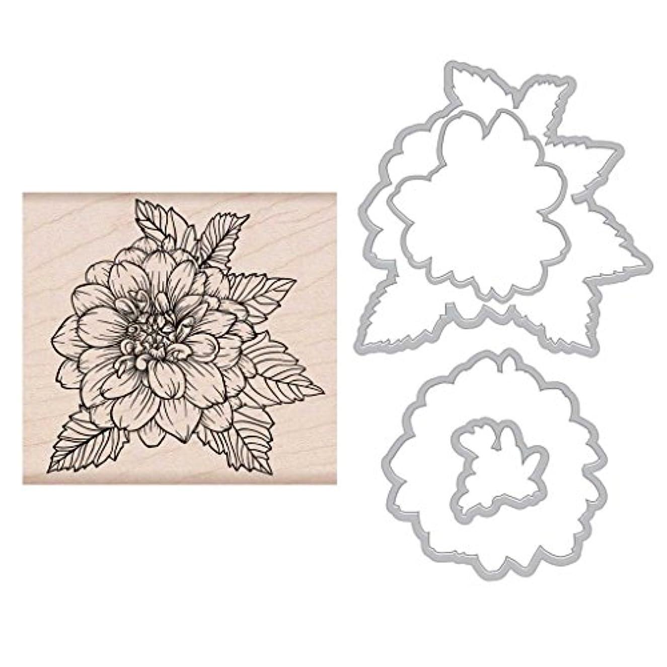 Hero Arts Artistic Dahlia Wood Mounted Stamp & Die Combo (SB154)