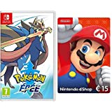Pokémon Epée [Nintendo Switch] + Nintendo eShop Carte 15 EUR [Download Code]