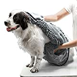 Tuff Pupper Large Dog Shammy Towel | Ultra Absorbent | Durable 35 x 15 Size for Dogs of...