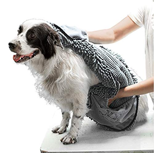 Tuff Pupper Large Dog Shammy Towel with Hand Pockets
