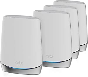 NETGEAR Orbi Whole Home Tri-Band Mesh WiFi 6 System (RBK754) – Router with 3 Satellite Extenders | Coverage up to 10,000 sq. ft. and 40+ Devices | AX4200 (Up to 4.2Gbps)