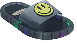 Hopscotch FEETWELL Shoes Boys and Girls Plastic LED Flip Flops in Black Color