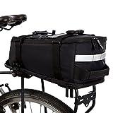 BTR Deluxe Fahrradtasche Gepäckträger Tasche Wasserdicht und reflektierender Schutzhülle –...