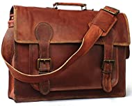 """100 % genuine leather with durable canvas lining, YKK Zippers Size: 18"""" width x 13"""" height x 6"""" depth, durable top handle and adjustable shoulder strap One outside back zipper compartment, Pen Holder, Big Front Pocket for iPad/Tablet, 2 small inner c..."""