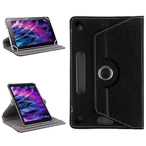 NAUC Tablet Tasche für Medion Lifetab P9702 Schwarz Hülle Schutzhülle Cover Hülle