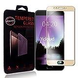 Meizu MX6 Pellicola Protettiva, Ycloud Full Coverage vetro Temperato, Ultra Trasparente, Anti-Graffio Applicare a Meizu MX6 - Oro