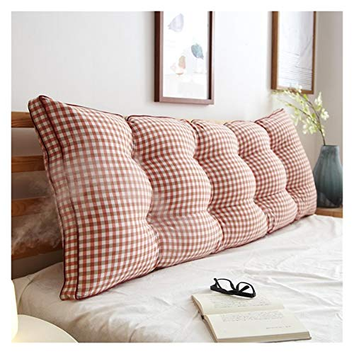 Barture Bedside Back Cushions Sofa Bed Upholstered Headboard Double Large Lumbar Support Cushion Removable Washable (Color : 24#, Size : 180x20x50cm)