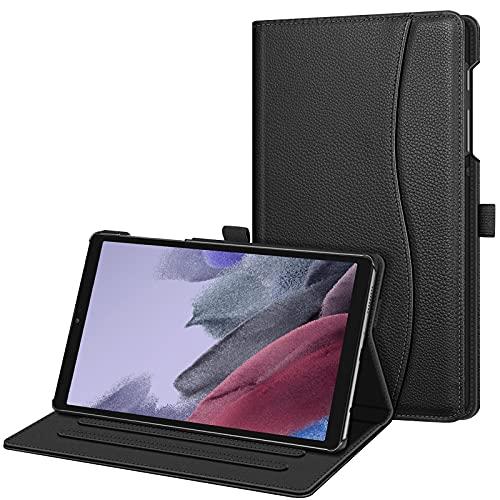 FINTIE Funda Compatible con Samsung Galaxy Tab A7 Lite de 8,7 Pulgadas (2021) - Carcasa Fina [Múltiples Ángulos] con Bolsillo Auto-Reposo/Activación para Modelo de SM-T225/T220, Negro