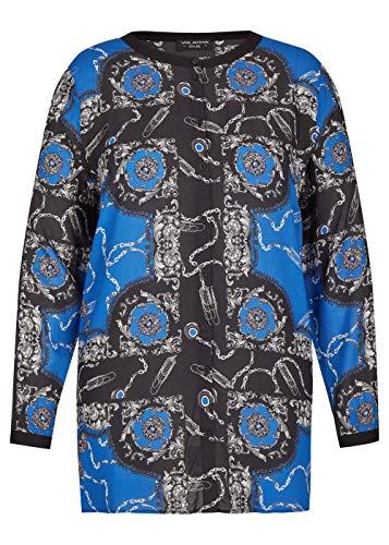 Via Appia Due Damen Fließende Bluse mit auffälligem Print