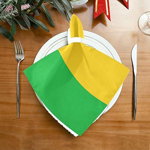 Pac Mac Stoffservietten mit Mali-Flagge, perfekt für Küchen, Hochzeiten, Partys, Feiertage, Abendessen, Thanksgiving & Weihnachten.