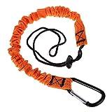 KOUJING Mosquetón cordón retráctil cuerda telescópica hebilla elástica equipo de escalada