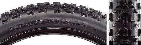 CST Toboggan Tires Toboggan 26 X 4.0 Wide Black Wire Bead 240-Studded Fat Tire
